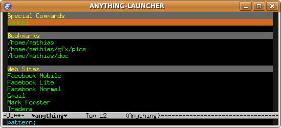 EmacsWiki: Anything Launcher