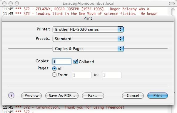 M-x mac-print-buffer
