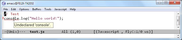 JslinterFlycheckOnWindowsScreenshot