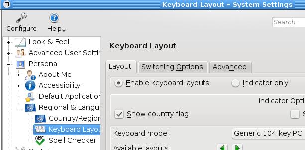 KDE Keyboard Layout