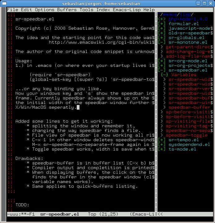 EmacsWiki: Sr Speedbar