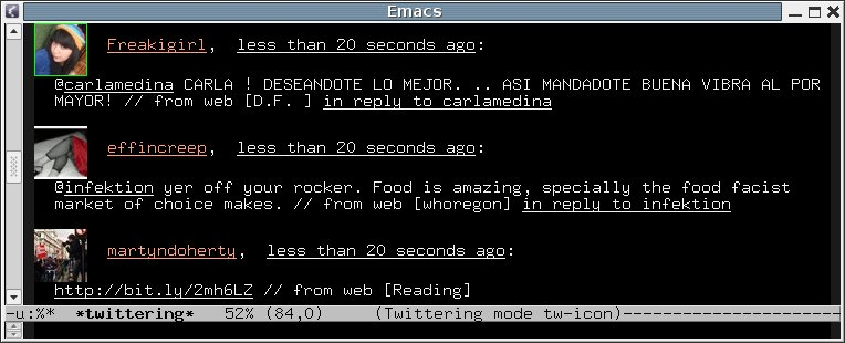 Emacs twittering-mode