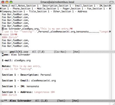 csv-nav screenshot