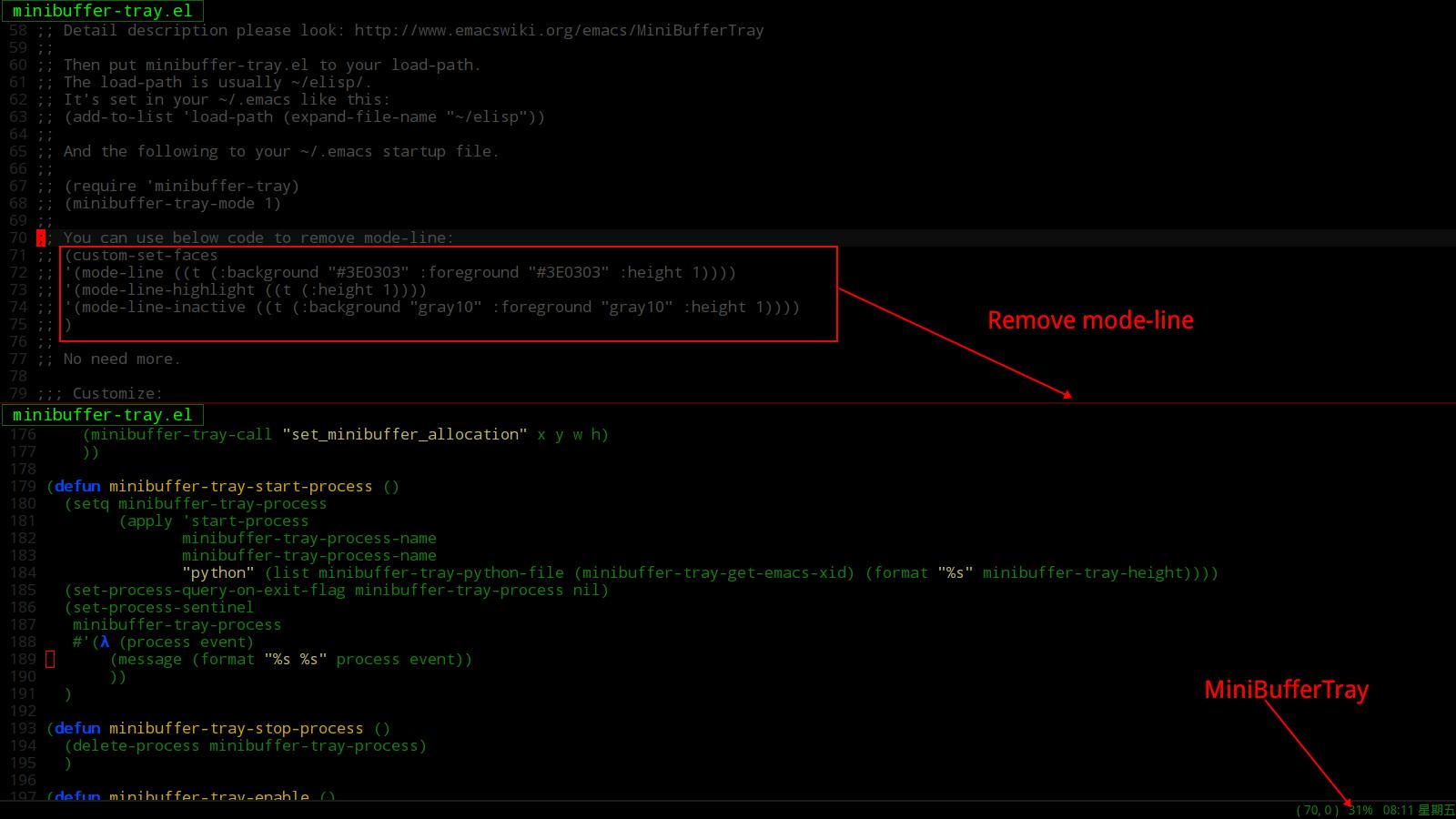 Screenshot EmacsWiki SiteMap